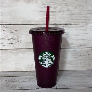 Starbucks purple glitter reusable cold cup